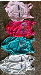 Ingrosso Ins migliore vendita di fascia alta un pezzo per bambini ragazze tute costumi da bagno stampa lettera costume da bagno per bambini spiaggia abbigliamento 2T-8T A-E5