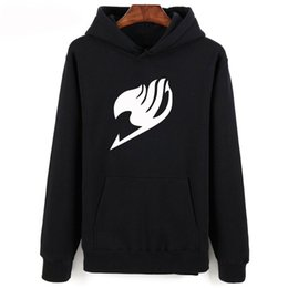 fairy tail prints Australia - New Fairy Tail Black Hoodies Men Women Autumn Winter Fashion Casual Hip Hop Hoodie Harajuku Print Fairy Tail Mens Sweatshirts