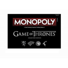 $enCountryForm.capitalKeyWord Australia - Game of Thrones 8 Jon Snow cosplay prop monopoly paper card flight chess woman men board role-playing games party holiday toys 6 tokens