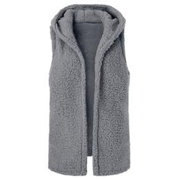 Chinese  Women Sleeveless Autumn Coat Vest Jacket Fluffy Coat Winter Fleece Hoodies Fluffy manufacturers
