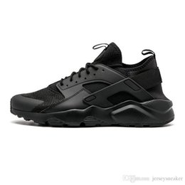 black running shoes for women NZ - Huarache 4.0 New 1.0 Classical Triple White Black red Running Shoes for mens women breathable fashion sports Sneaker trainers size 36-45