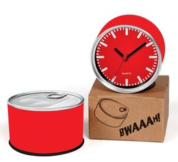 $enCountryForm.capitalKeyWord NZ - Cheap Price Red Reloj 2pcs lot Simple Red Index Watches Kitchen Fridge Magnets Aluminum Can Wall Clocks,Metal Tin Clocks
