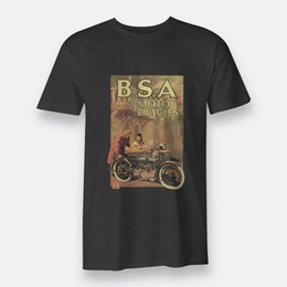 Motor Bicycles Australia - BSA Motor Bicycles Vtg Tees Black S-3XL Men's T-shirts