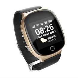 e666e9364 D100 Elderly Smart Watch Heart Rate Monitor with Fall-down Alarm Function  Anti-lost Gps+Lbs+Wifi Tracking for IOS Android Smartwatches