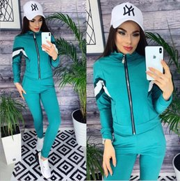 $enCountryForm.capitalKeyWord Australia - Women Designer Yoga Running Tracksuit Long Sleeve T Shirt Pants 2 Piece Set Tights Leggings Sportswear Brand Gym Suits Women Clothing Clothe