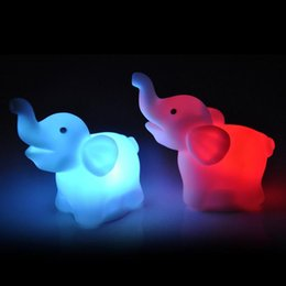 night garden party decorations NZ - 2Pcs lot Elephant XBJ301 Color Changing LED Night Light Lamp Wedding Party Decoration Supplies Creative Handicrafts Fairy Garden