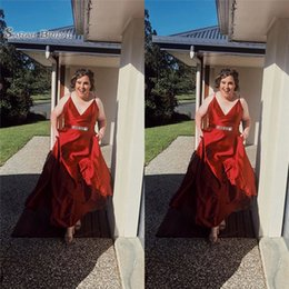 132934c752 Sexy chriStmaS party dreSSeS cheap online shopping - 2019 Cheap Red  Spaghetti With Satin Aline Evening