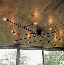 $enCountryForm.capitalKeyWord Australia - Pendant Lights Multiple Rod Wrought Iron Modern Ceiling Lamp E27 Bulb Living Room Lamparas for Home Lighting Fixtures