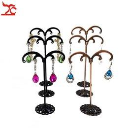 $enCountryForm.capitalKeyWord NZ - Metal Jewelry Earring Display Stand Rack Piercing Stud Long Big Earrings Hanger Jewellery Showcase Exhibition Shelf Holder 3pcs set