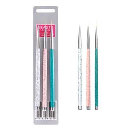 Wholesale 3 Set Nail Art Liner Painting Brush mm mm mm Nail Drawing Dotting pen UV Gel Acrylic Manicure Nails Brush Pen