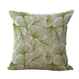 decorative throw pillows birds 2019 - Green Plant Pillow Cushions Cushion Tropic Tree Green Throw Pillow Bird Decorative Pillows Flower For Sofa cheap decorat