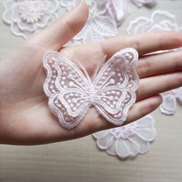 $enCountryForm.capitalKeyWord NZ - Embroidered Wedding Appliques Lace Trims Fabric Butterfly Double Layer Wave Point Edge DIY Trimmings Patch For Bridal Dress Bags Jeans