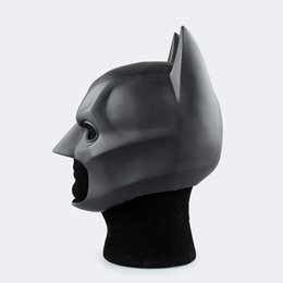 cat masks for adults UK - Movie The Dark Knight Batman Helmet PVC Flexible Mask Fancy Ball Cosplay Accessory Prop Mask Headwear for Child