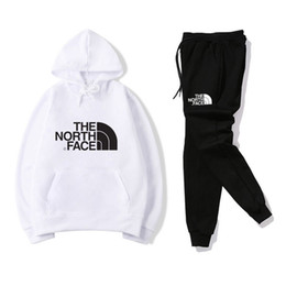 Mens designer tracksuits online shopping - Mens Clothing Designer North Sweatshirt Pants Tracksuits Black White Red Yellow Mens Fashion Casual Clothes Sports