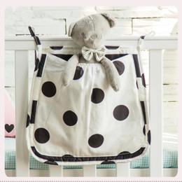 Big Bags storage online shopping - 30 cm Crib Hanging Storage Bag Baby Bedside Toys Diaper Organizer Cotton Big Pocket for Baby Bedding Set Cot Accessories