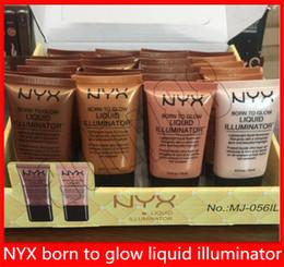 $enCountryForm.capitalKeyWord Australia - NYX Liquid Foundation Face Concealer Makeup Born To Glow Liquid Illuminator BB Cream Make Up BB Cream Powder Cosmetics Skin Care 18ml