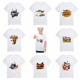 girls kids t shirt design 2020 - Kids Designer Clothes Boys Halloween Shirts Cotton Toddler Girls T Shirts Short Sleeve Children Tops Pumpkin Tees 38 Des
