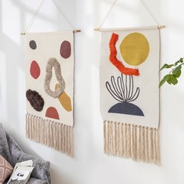 watts box UK - Boho Hanging Tapestry Fabric Home Decoration Accessories Watt-hour Meter Box Cover Dormitory Hotel Wall Hanging Blanket Decor T200331