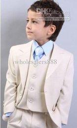 Fashion Formal Boy Suit Australia - New Fashion High Quality Kid Notch Collar Children Wedding Suit Wedding Suit Boy Formal Suits(Jacket+Pants+Tie+Waistcoat)