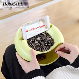 $enCountryForm.capitalKeyWord Australia - Hoomall Plastic Candy Snack Dry Fruit Organizer Bowl Melon Seeds Storage Box Table Container Plate Dish With Mobile Phone