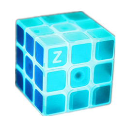 $enCountryForm.capitalKeyWord UK - wholesale 3x3x3 Profissional Magic Cube Blue Light Transparent Glow Competition Speed Puzzle Educational Cubes for Children