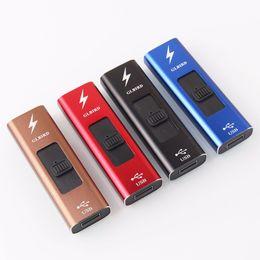 $enCountryForm.capitalKeyWord Australia - Newest Colorful USB Charging ARC Lighter Windbreak Portable Innovative Design For Cigarette Smoking Pipe High Quality Hot Cake DHL