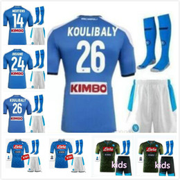soccer jerseys for kids NZ - KIDS KIT 2019 2020 Serie A Naples thailand Napoli home soccer jerseys Napoli football Jerseys Shirt for 19 20 HAMSIK L.INSIGNE PLAYER Shirt