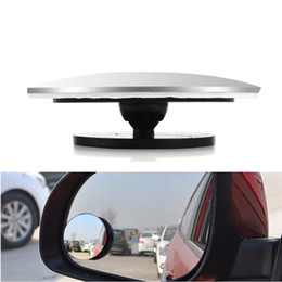 rear view mirror glasses NZ - Car Styling 360 Degree Framless Blind Spot Mirror Wide Angle Round HD Glass Convex Rear View Mirrors