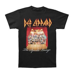 afd551d3d5dc Def Leppard Men's Sparkle Lounge T-shirt Small Black Men's T-Shirt New  Fashion Casual Cotton Short-Sleeve Funny
