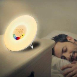 Chargeable Saudável Relógio Despertador Digital Descoloração Assista Aço + Plástico Quarto Acordar luminosa LED Lâmpada Homens Mulheres Relógio