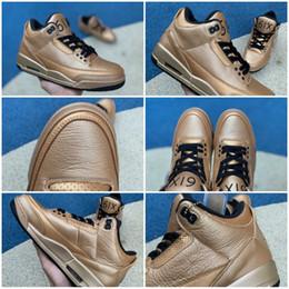 ca6fbb339cf 2019 New Original quality OVO X Jumpman 3 6IX Drake Luxury Gold Basketball  shoes 3s Men Women Sports Sneakers Size 40-47.5