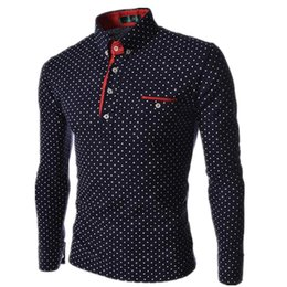 $enCountryForm.capitalKeyWord Australia - Men Polo Shirts 2019 New Autumn Man Fashion Polka Dot Long Sleeve Polo Shirt Male Button Henley Neck Casual Slim Fit Camisa Polo