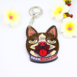 Special Figure Australia - cartoon DOG Compact mirror keychain special styles popular gifts keyholders bag fashion accessoires promotion gifts key ring
