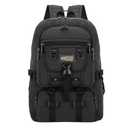 Backpack Solid Australia - Men Bag Big Fashion Canvas Backpacks For Men Travel Large Capacity Arcuate Shoulder Strap Zipper Solid Male Backpack