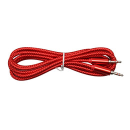$enCountryForm.capitalKeyWord UK - Audio Jack 3.5 mm Male to Male 2m China Red Audio Line Audio Aux Cable For iPhone Car Headphone Speaker Wire Line Aux Cord 500pcs