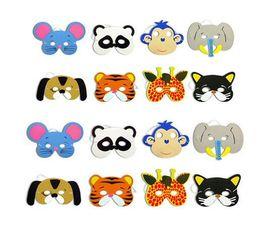 $enCountryForm.capitalKeyWord Australia - Mask Birthday Party Supplies EVA Foam Animal Masks Cartoon Kids Party Dress Up Costume Zoo Jungle Mask Party Decoration GB585