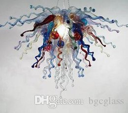 modern kitchens for sale Australia - 100% Hand Blown Glass Chandelier Lighting Modern Crystal Multi Color Glass Pendant Lamps Home Decor Glass Chihuly Style Chandelier for Sale