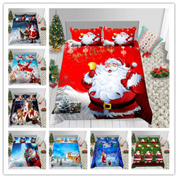 $enCountryForm.capitalKeyWord Australia - Merry Christmas Santa Claus Bedding Set Fashion Duvet Cover Single Double King Size Holiday Gifts Bed Sheet Sleeping Decoration