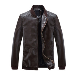 $enCountryForm.capitalKeyWord Australia - Korean Slim Men's Leather Jackets Coats Spring Autumn Casual Tops Outwear Male Motorcycle Faux Leather Jackets Four Buttons 2019