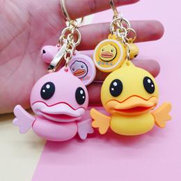 Alloy epoxy online shopping - Cute Cartoon Epoxy Duck Keychain Keyring For Women Bag Charm Pendant Fashion Animal Key Chain Holder