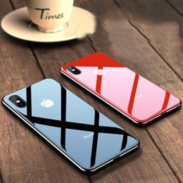 Glasses Trade Australia - Foreign Trade iPhone XS tempered Glass plating shell Apple 6S mobile phone case 7plus shatter-resistant shell Free shipping