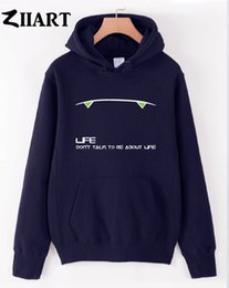 Wholesale robot couple online – design LIFE DON T TALK TO ME ABOUT LIFE robot marvin couple clothes boys man male autumn winter fleece hoodies