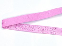 $enCountryForm.capitalKeyWord Canada - DIY Nylon webbing Pink Rose jacquard knitted elastic lace trim fabric woven for bra high quality 12mm wide factory straps custom SPS7006-12
