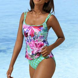 $enCountryForm.capitalKeyWord Australia - S-XXL Floral Tankini Push Up Two Pieces Swimsuit Women Vintage Swimwear Summer Beachwear Padded Bathing Suit Push Up Swimsuit
