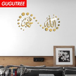$enCountryForm.capitalKeyWord Australia - Decorate Home 3D Arabic letter cartoon mirror art wall sticker decoration Decals mural painting Removable Decor Wallpaper G-277