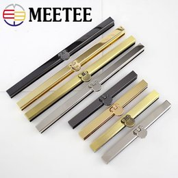 metal framed wallets UK - 3PCS Meetee 11.5cm 19CM DIY Metal Purse frame Handle Bronze Gun Black Silver gold for wallet Bag sewing F1-74