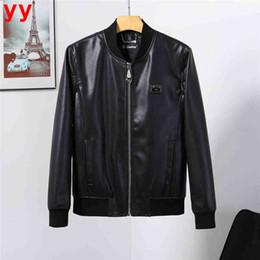 $enCountryForm.capitalKeyWord Australia - F.N.JACK Men's Motorcycle Faux Leather Jackets Male Casual Fashion Leather Punk Autumn Winter Coat