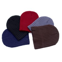 Cotton Slouch Beanie Australia - Exclusive High Quality Women Men Unisex Knitted Winter Hat Cap Casual Beanies Solid Color Hip-hop Slouch Skullies Bonnet Gorro