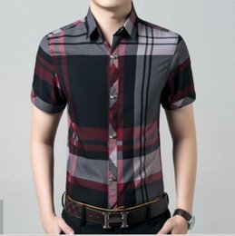 Tool Checker Australia - 2019 New Arrival Summer Short-sleeved Men's Shirts Short-sleeved Shirt Checker Printed Inch Shirt for Youth Leisure Professional Tools polos