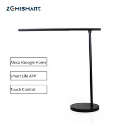Discount smart desk lamp - WiFi LED Desk Lamp Dimmerable Alexa Google Home Siri Voice Smart life APP Manual Touch Control Black Table Light
